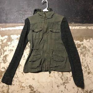 women's military green jacket